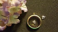 Whiskers the Cat Silver Floating Charm for Living Memory Lockets - US Seller
