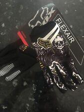 FOX RACING Motocross Riding MX gloves NEW size Large L FLEXAIR Skull White Black