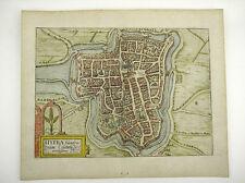 YPERN FLANDERN BELGIEN KOL KUPFERSTICH DOPPELBLATT GUICCIARDINI 1609 AD #D884S