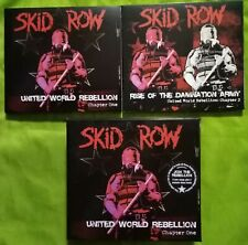 SKID ROW UNITED WORLD REBELLION ONE 1 BOX + RISE OF THE DAMNATION ARMY TWO 2 CD