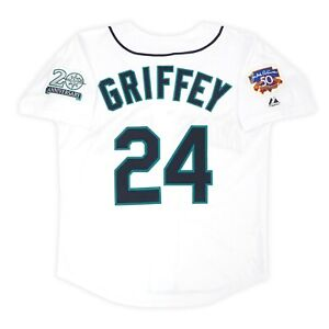Ken Griffey Jr. Seattle Mariners 1997 Men's Home Jersey w/ Jackie 50th Patch