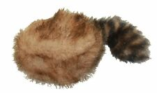 NEW Large Plush Frontier Coon Skin Raccoon Tail Hat Dog Toy Toys Furry Squeakers