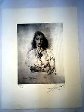 Salvador Dali Litografia 50 x 65 Bfk Rives Timbro a secco Firmata a Matita D297