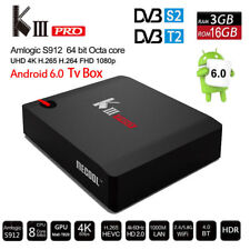KIII Pro DVB S2+T2 Satellite Receiver 3/16G  Octa Core TV BOX For  Android 6.0