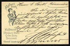 s1767a) Hoffmanns épaisseur GA avec Chat privé-ga Bavière 1899 Ulm - Donauworth