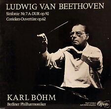 Beethoven • SINFONIE NR. 7 / CORIOLAN-OUVERTÜRE  K. Böhm + Berliner Philharmo...
