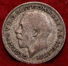 1920 Great Britain 3 Pence Silver Foreign Coin