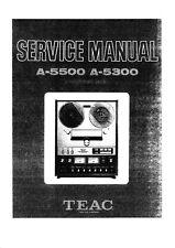Service Manual-Anleitung für Teac A-5300,A-5500