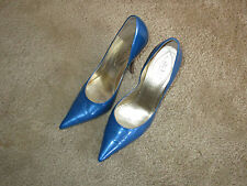"Guess Carrie patent blue leather pumps size 9M with about 4 1/8"" heels"