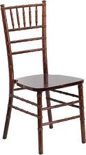 Fruitwood Wood Chiavari Chair With Soft Seat Cushion Stacking Wedding Chair