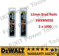 STANLEY 12mm Brad Nails 0-SWK-BN050 2 x Pack Of 1000 18 Gauge