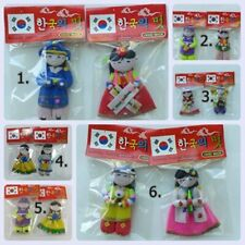 2Pcs. Magnet Refrigerator Fridge Silicone South Korea Souvenir Handcraft Doll