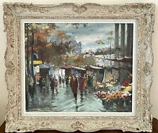 French Cityscape Francois Gerome Large Oil Painting La Madeleine Paris Painting