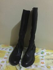 New kenneth Cole black leather party gurrl long boots knee length