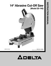 "Delta 20-140 14"" Abrasive Cut-Off Saw Instruction Manual"