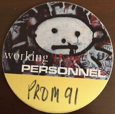 U2 - Zoo TV Tour - satin backstage pass working personnel #91 yellow & black