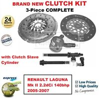 FOR RENAULT LAGUNA Mk II 2.2dCi 140bhp 2005-2007 BRAND NEW 3-PC CLUTCH KIT + CSC