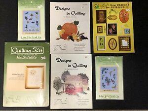 Lot 3 Quilling Kits & 3 Quilling Design & Instruction Books Malinda Johnston