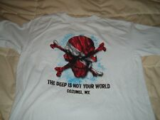 COZUMEL MEXICO SKULL AND CROSSBONES SHIRT MENS XL
