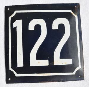 1900s Imperial Russia Russian House Wall Hot Enamel Number Sign #122