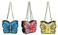 STATEMENT CUTE FAUX LEATHER RETRO 3D BUTTERFLY ANIMAL TEXTURED HANDBAG