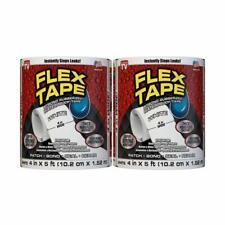 Flex Seal Flex Tape Super Strong Rubberized Waterproof Tape 2pack 4x 5 White