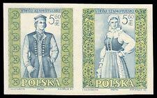"POLAND 903ai (Mi1147Bs) - Szamotuly Costumes ""Imperf Pair"" (pf1585)"