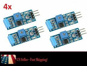 4pc 3.3-5V SW-420 Motion Tilt Sensor Vibration Switch Alarm Module for Arduino