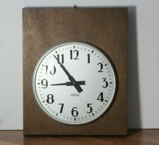 Vintage Standard Electric Time Co. Wood Cased Metal Wall Clock