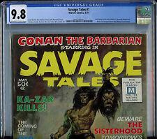 Savage Tales #1 CGC 9.8 NM/MT Conan Magazine Marvel Comic 1st Manthing
