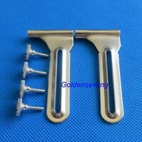 """2 sets Industrial Sewing Machine """"L"""" Gauge Sewing Edge Guide with Screws"""