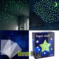 Ultra Glow in the Dark Stars Realistic 3D Domed Stickers 200Stars+Moon & 606Dots