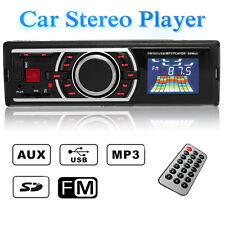 12V Car 1 DIN In-Dash LCD Audio Stereo Radio SD USB MP3 Player AUX W/o CD Reader