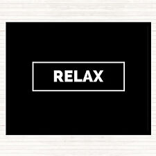 Black White Relax Boxed Quote Mouse Mat Pad