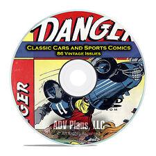 Classic Car Comics, Sports Comics, Hot Rods, Baseball, Golden Age Comics DVD D17