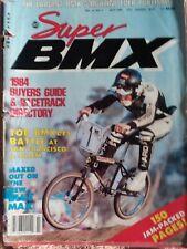 Super Bmx 1984 Buyer Guide vintage magazine