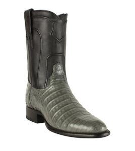 Men's Los Altos Genuine Caiman Belly Roper Boots Round Toe