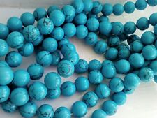 Sinkiang Turquoise Round Beads-  12 mm Jewellery making  UK seller. Gemstones.