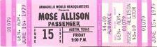 Mose Allison Concert Ticket 1979