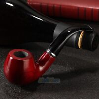 Red Solid Wood Wooden Smoking Pipe Tobacco Cigarettes Cigar Pipes X'mas Gift US