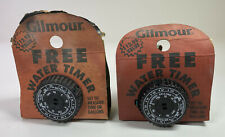 Water Timer 2 Vintage Gilmour Measures Time or Gallons Auto Shut Off Made in USA