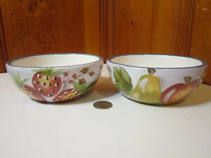 "Set of 2 Heritage Mint Black Forest Fruits 5 3/8"" Cereal Bowls Discontinued 2004"
