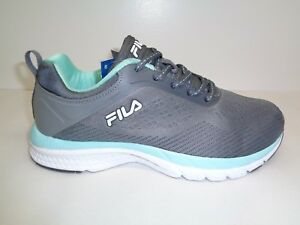 Fila Size 8 MEMORY OUTREACH Grey Running Athletic Sneakers New Womens Shoes