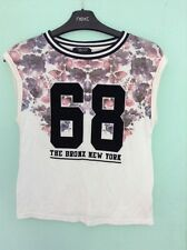 New Look 915 Generation Age 9 Short Sleeve Sporty Floral White Top