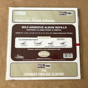 """Lot of 3 Pioneer Photo Album Refill Packs PMV up to 8""""x10"""" for PMV-206"""
