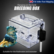 Fish Tank Breeding Hatchery Incubator Aquarium Breeder Isolation Box Pump UK!