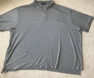 Polo Ralph Lauren Men's Pima Soft Touch Short Sleeve Polo - Gray - Sz 6XB / 6XL