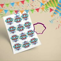 Paw Patrol Logo Cupcake Toppers With Matching Cookie Cutter 7cm Edible Icing