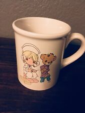 Precious Moments Love Beareth All Things Cup Mug Nurse Bear 1994 Coffee Tea Gift