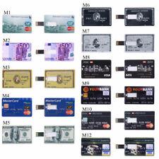 Credit Cards USB Flash Memory Pendrive Thumb Drive 4GB-32GB USB2.0 U Disk Lot th